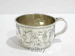 1 7/8 in Sterling Silver The McChesney Co. Antique Nursery Rhymes Baby Cup
