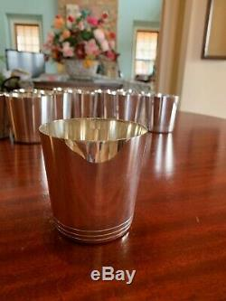 12 Tiffany Sterling Silver Mint Julep Cups Tumblers Whiskey Sour