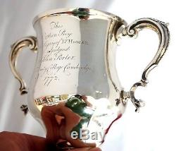 1772 Sterling Silver Loving Cup Trophy. Trinity College Cambridge Oration Prize