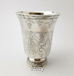 18th Century French Antique Sterling Silver Wine Cup Timbale Beaker Goblet