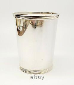 1950'S Alvin S251 Beaker Julep Cup Banded Rims Sterling Silver No Mono 125 Grams