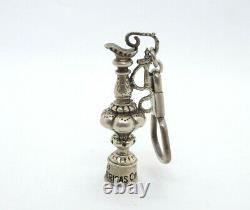 1991 San Diego America's Cup Sailing Trophy Sterling Silver Key Chain or Pendant