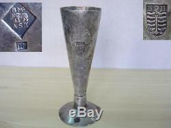 19c. Antique Imperial Russia Sterling Silver Cup With Navy Emblem