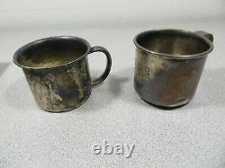 (2) STERLING SILVER Cups Poole 99 g Scrap