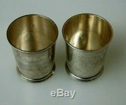 2 Vintage Fisher Sterling Silver Mint Julep Cups #86 No Mono