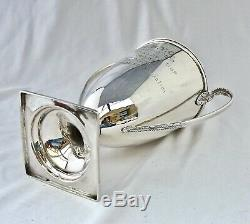 363gm Sterling Silver Sailing Trophy Cup & Cover 1912. Royal Bermuda Yacht Club