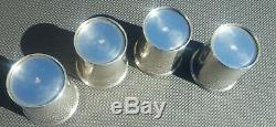 4 STERLING SILVER Kentucky Derby Mint Julep Cups 895 Set of 4 NO MONO Manchester
