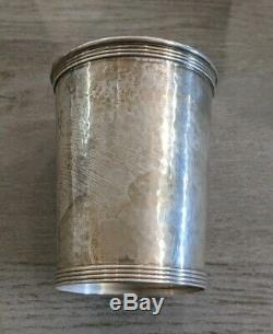 4 Vintag Newport Sterling Silver Hand Hammered Mint Julep Cups 1640 No Mono