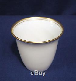4 Vtg Antique Tiffany + Co. Sterling Silver Demitasse Cup + Saucers Lenox Liners