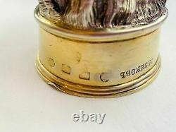 531 gr Massive Antique Imperial Russian Sterling Silver 84 Vodka Cup Boar Signed