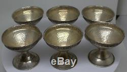6 X Antique Sterling Silver Sorbet Cups #dbw
