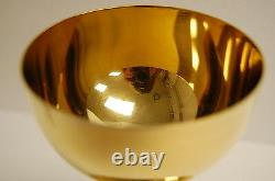 7 1/4 GOLD PLATED CHALICE AND PATEN, with STERLING SILVER CUP #G (CHURCH CO.)