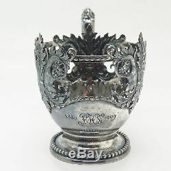 925 Sterling Silver Antique Tiffany & Co. Cherub Ornate Demitasse Cup Holder