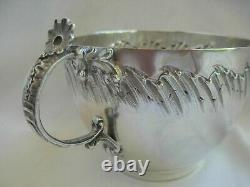 ANTIQUE FRENCH STERLING SILVER CHOCOLAT CUP & SAUCER, LOUIS 15 STYLE, 19th CENTURY