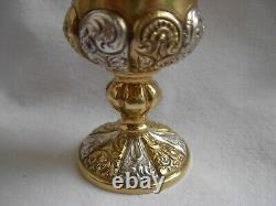 ANTIQUE FRENCH STERLING SILVER EGG CUP WITH SPOON, 19th CENTURY