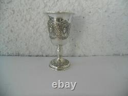 ANTIQUE STERLING SILVER FRENCH WINE CUP BEAKER CUP TIMBALE 19th