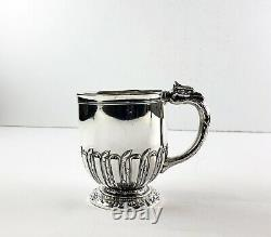 Antique 1892 Sterling Silver Cup Gorham Gryphon Eagle Handle Heavy 6 OZ