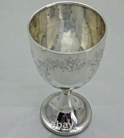 Antique 1910 Sterling Solid Silver Small Etched Goblet or Cup (1930/9/WNY)