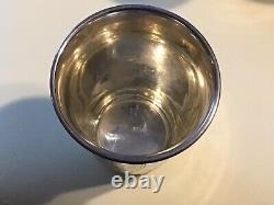Antique (6) Russian 84 Judaica Sterling silver Kiddush cups, goblets Spoon TONGS