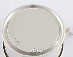Antique American Sterling Silver Collapsible Cup. Folding Hunting Travel c1910