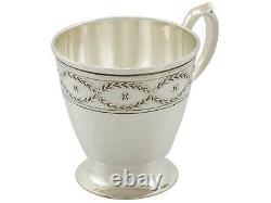 Antique American Sterling Silver Cups and Saucers Set by Tiffany & Co