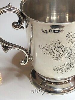 Antique Birmingham 1903 HM Sterling Silver Christening Cup/ Mug Great Condition