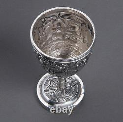 Antique Chinese Export Sterling Silver Cup Figures