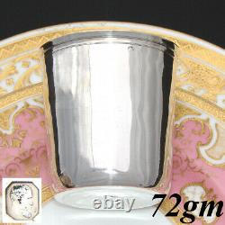 Antique French 1820s Sterling Silver Wine or Mint Julep Cup, Tumbler or Timbale