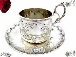 Antique French Sterling Silver Coffee Cup the 1879