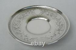Antique French Sterling Silver Cup and Saucer 19th Century