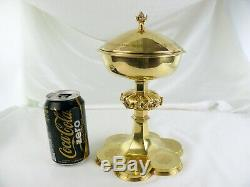 Antique French Sterling Silver Gold plated Ciborium Church Goblet Cup Chalice