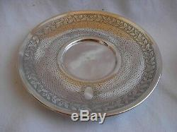 Antique French Sterling Silver Tea Cup & Saucer