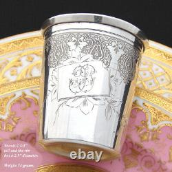 Antique French Sterling Silver Wine or Mint Julep Cup, Tumbler or Timbale