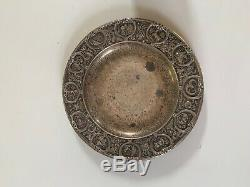 Antique Gorham Manufacturing Company Sterling Silver Zodiac Cup and Saucer