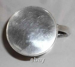 Antique Hallmarked Gorham Heavy Sterling Cup Decorated Base & Applied Handle
