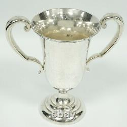 Antique Je Caldwell & Co Sterling Silver 2 Handled Trophy Cup Vase 1784/8