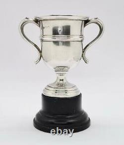 Antique STERLING SILVER Unengraved SMALL TROPHY CUP Birmingham 1922