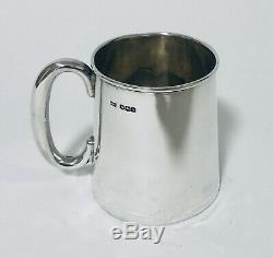 Antique Solid Sterling Silver Christening Cup Good Quality Walker and Hall 1935
