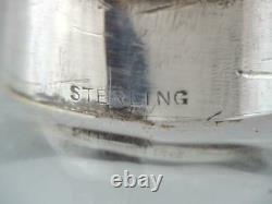 Antique Sterling Silver Liquer Flask With Cup Base Circa 1909-1915 New York