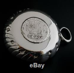 Antique Sterling Silver Tastevin Wine Taster Cup Colonial Pillar Coin 1769