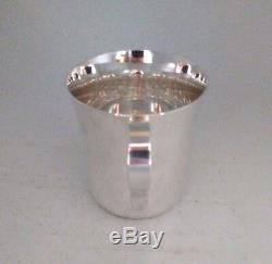 Antique Tiffany & Co. Makers Sterling Silver Mirrored Baby Cup 23245 No Monogram
