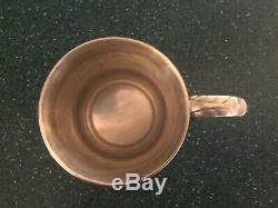 Antique Tiffany Sterling Silver (heavy) Baby Cup Mug Very Nice. Old Pattern #8031