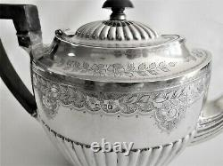 Antique sterling silver teapot six cup c 1893 Sheffield United Kingdom