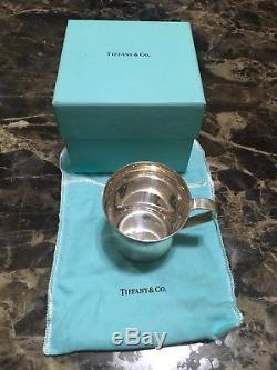 Authentic Tiffany & Co 925 Heavy Sterling Silver 23245 Baby Cup Circa 1990 w Box