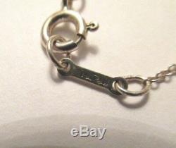 Authentic Tiffany & Co. Pink Enamel Cup Cake Charm Pendant & 16 Tiffany Chain