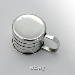 Banded Baby Jigger Cup Watson Sterling Silver 1940