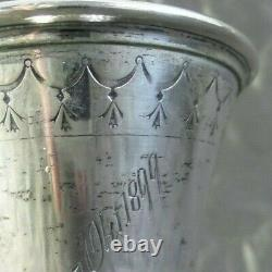 Beautiful Ornate Antique 1890s K. Anderson Swedish Silver Remembrance Julep Cup