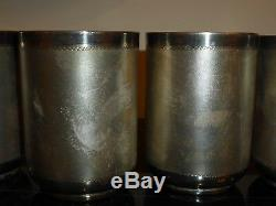 Bhatter & Co Set Of 6 Sterling Silver Cups 656 Grams, India