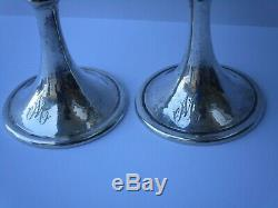Buccellati Sterling Silver Cup Goblet Hammered 925 Rare Vintage Sculpture Pair