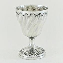 CAILAR & BAYARD Antique French Sterling Silver Eggcup Egg Cup Rococo Victorian